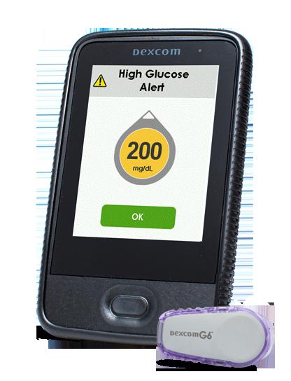 High glucose alert example