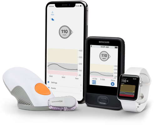 Dexcom G6 CGM devices