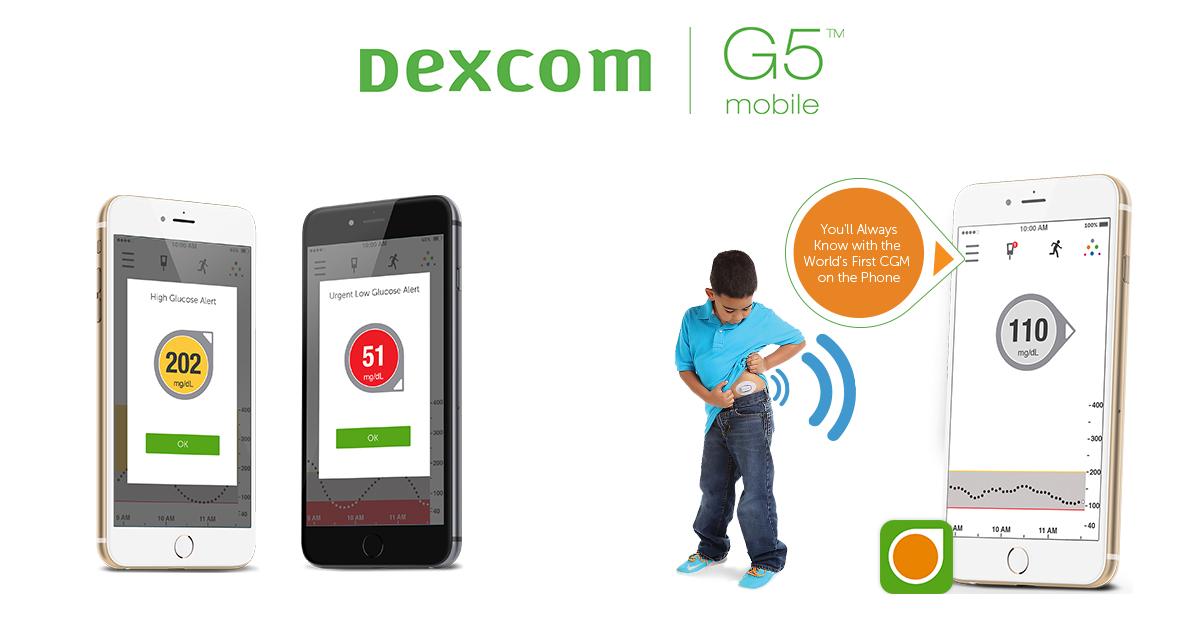 Dexcom G5 Mobile Cgm System Glucose On Your Phone Dexcom