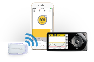 cgm transmitter sends data smart device